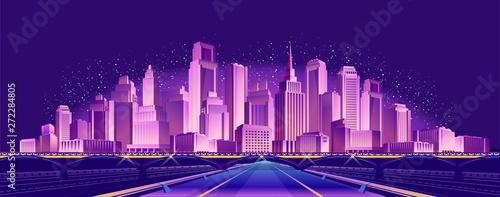 Fotografia road to the neon city