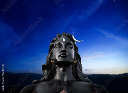 Photo Adiyogi shiva statue coimbatore tamil nadu - Image