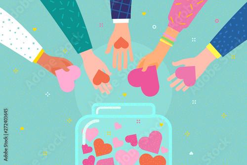Billede på lærred Concept of charity and donation
