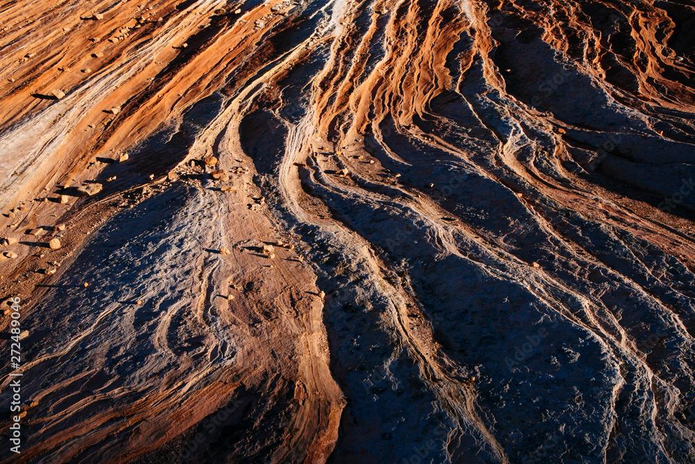 Detail of Navajo sandstone rock formation, White Pocket