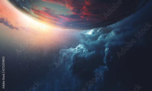 Fotografía Deep space beauty. Planet orbit.