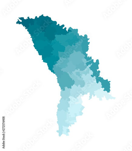 Photo Vector isolated illustration of simplified administrative map of Moldova