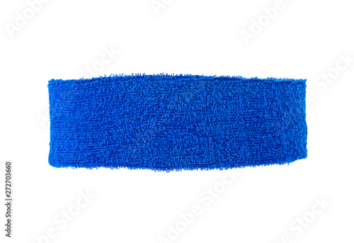 Fotografiet Blue training headband isolated on a white background