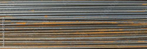 grunge background: steel reinforcement, short focus Fototapet