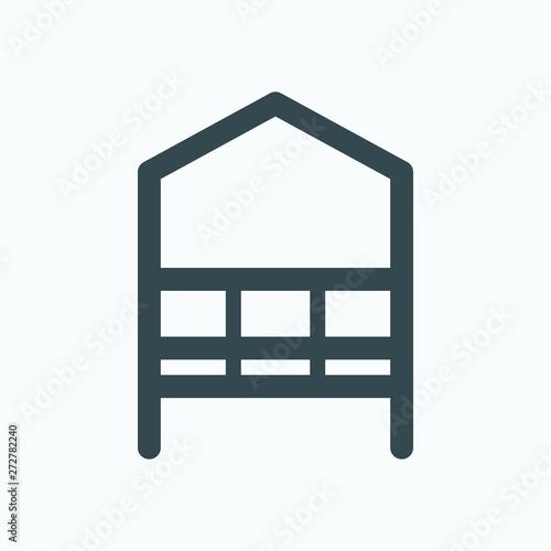 Obraz na plátne Arbour isolated icon, garden arbour linear vector icon