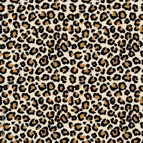 Wallpaper Mural Leopard vector seamless pattern