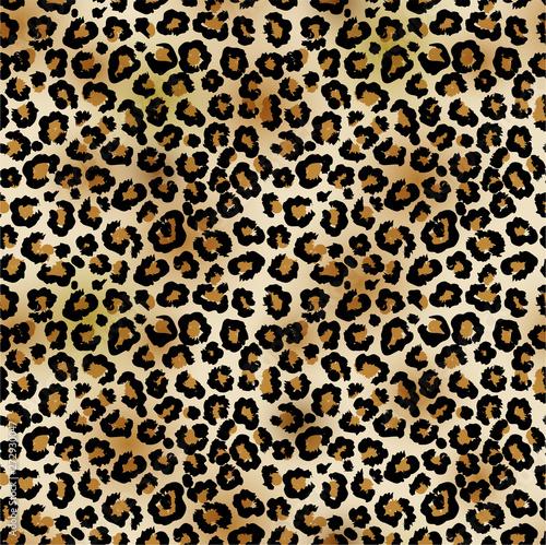 Carta da parati Leopard vector seamless pattern