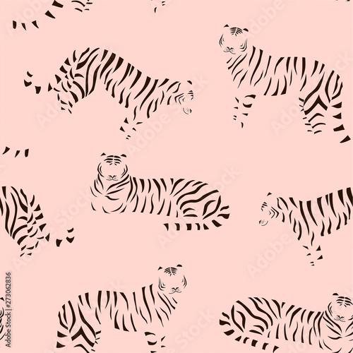 Wallpaper Mural Abstract tiger pattern