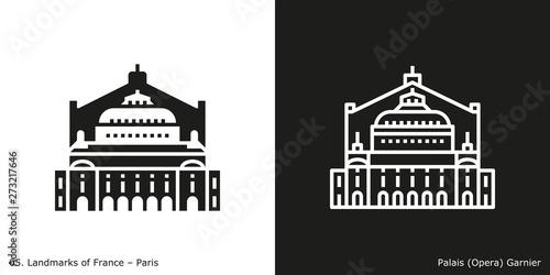 Paris - Palais (Opera) Garnier Fototapet