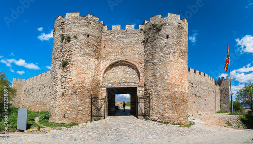 Canvas Print Entrance gates to the castle Samuil in Ohrid