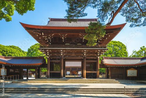 Canvas Print Main Hall of Meiji Shrine in Tokyo, japan