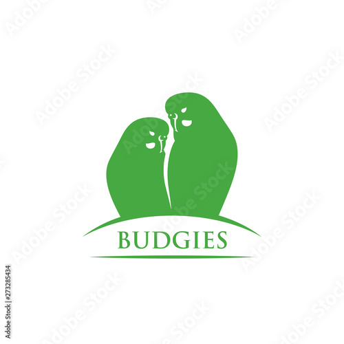 Stampa su Tela Budgerigars symbol - budgies - vector illustration - Vector