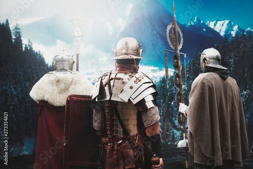 Fotografia ancient roman soldier before battle