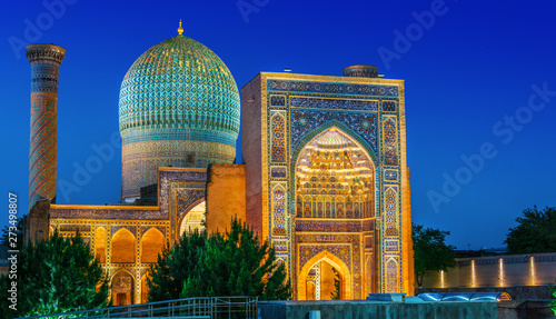 Valokuva Guri Amir, a mausoleum of the Asian conqueror Timur in Samarkand