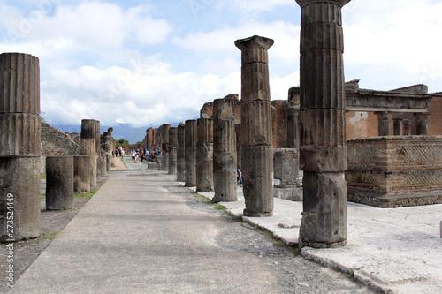 Tourisme à Pompéi Fototapete