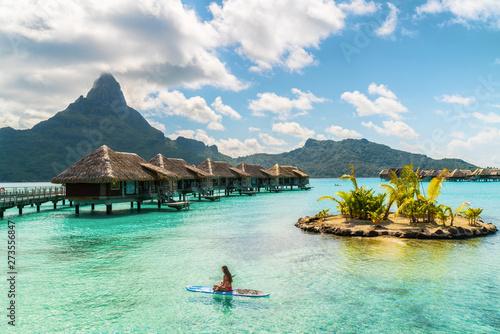 Fototapeta Tahiti luxury resort hotel in Bora Bora ,French Polynesia