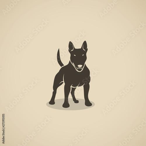 Canvas Print Bull Terrier dog - vector illustration
