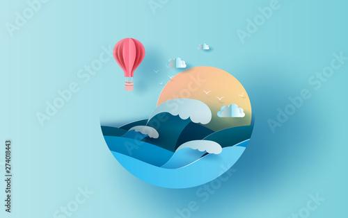 Fotografija Illustration of travel in holiday summer season circle concept