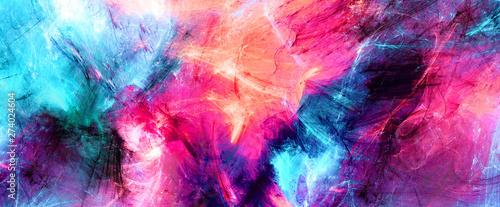 Fotografie, Obraz Bright artistic splashes