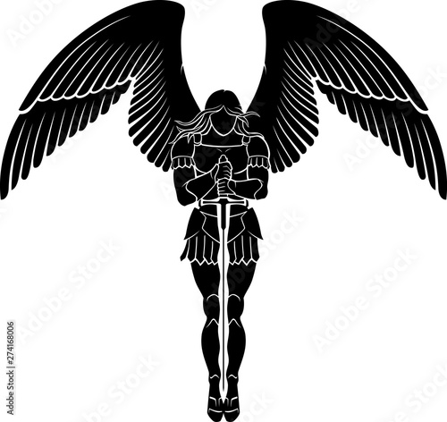 Foto Archangel Sword Meditate, Fantasy Artwork