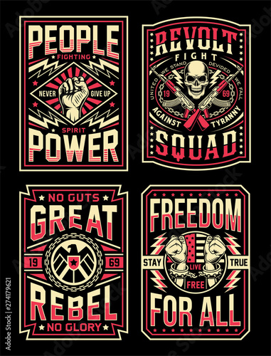Photo Vintage Propaganda T-shirt Designs Collection