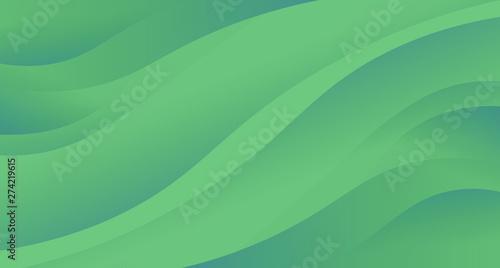Fényképezés Green abstract background wave