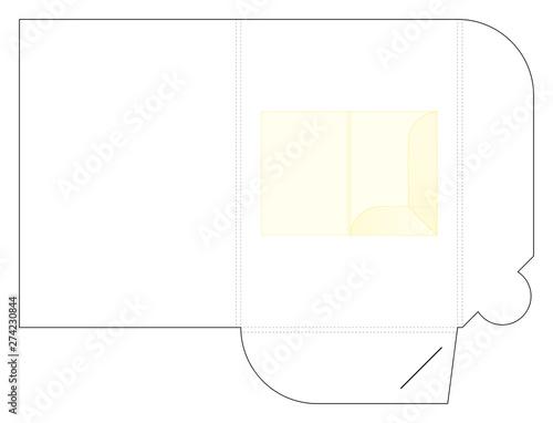 Foto Template paper file folder die cut with pocket