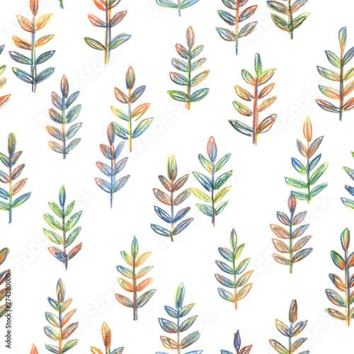 Tło dekoracyjne z ręcznie rysowane gałęzi. Wzór ołówka do kreatywnego projektowania plakatów, kart, zaproszeń, stron internetowych, wydruków i tapet. Ładny ornament botaniczny.