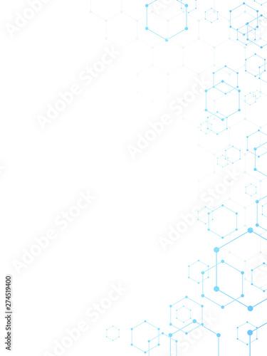 Murais de parede 六角形の背景 縦位置