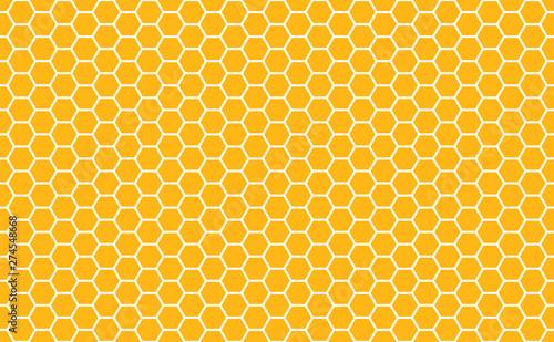Photo Gold honey hexagonal cells seamless texture