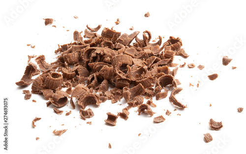 Fotografie, Obraz chocolate chips isolated