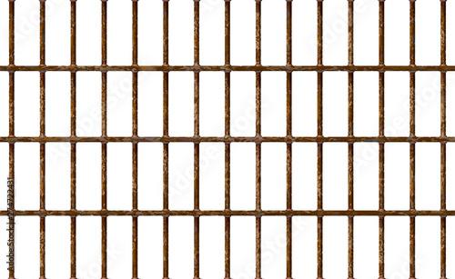 Slika na platnu Realistic Jail bars rusty, prison background iron interior