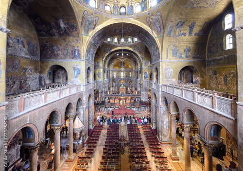 Slika na platnu Interior of the Basilica di San Marco