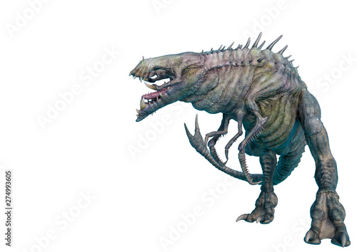 Wallpaper Mural alien animal in a white background side view