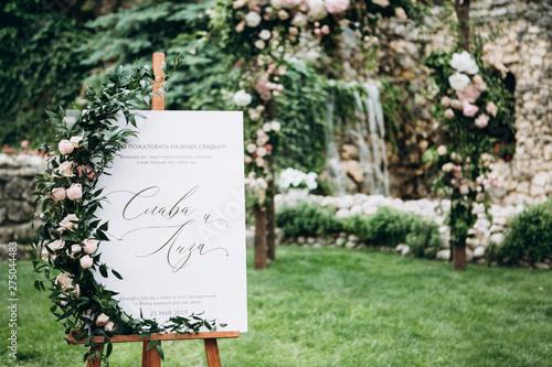 Valokuvatapetti Wedding details. Wedding decor. Wedding style.