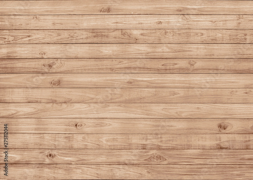 Fototapeta Wood boardwalk decking surface pattern seamless, texture
