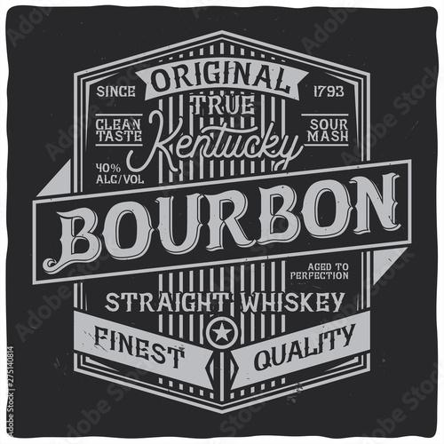 Fotografie, Obraz Vintage label design with lettering composition