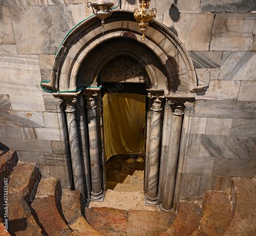 Obraz na płótnie Entrée de la grotte de la nativité