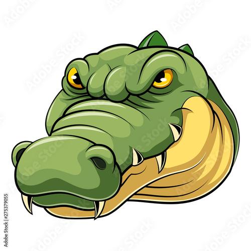 Obraz na płótnie Mascot Head of an crocodile