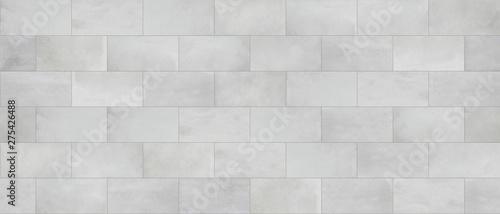 Fotografie, Obraz Concrete tile, cinder block wall cladding, seamless texture
