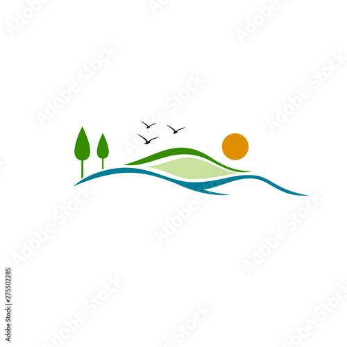 Fotografie, Tablou Hills Logo Stock Images