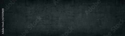 Photo Black tuff brick wall wide texture