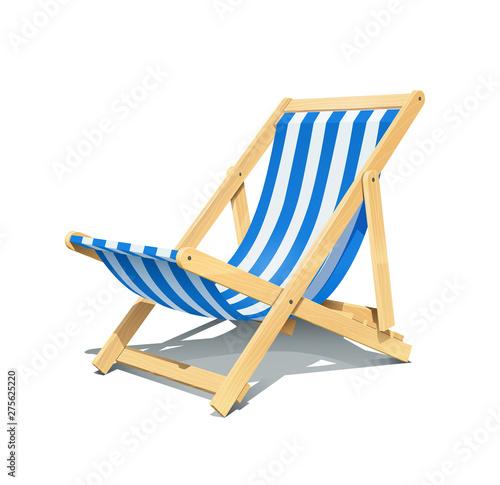 Canvas-taulu Beach chaise longue for summer rest