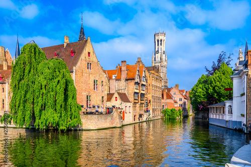 Fotografija Classic view of the historic city center of Bruges (Brugge), West Flanders province, Belgium