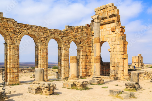 Arches at the ruins of Volubilis, ancient Roman city in Morocco. Fototapeta
