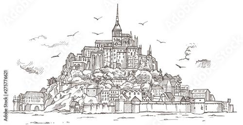 Wallpaper Mural Le Mont Saint Michel ,Normandy, France