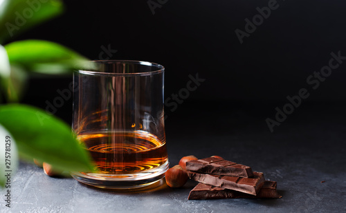 Fotografia Cognac or whisky or brandy in a glass