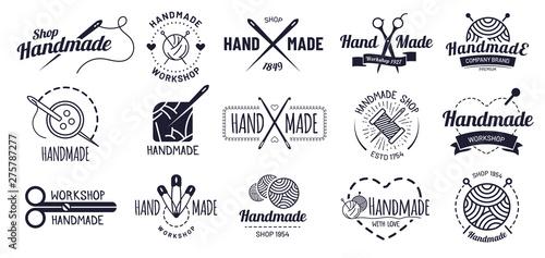 Obraz na plátne Handmade badges