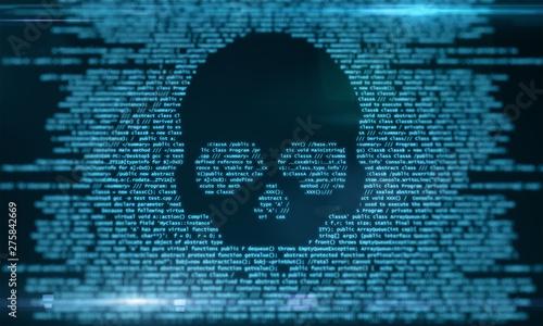 Fotografiet Virus attack and malware concept