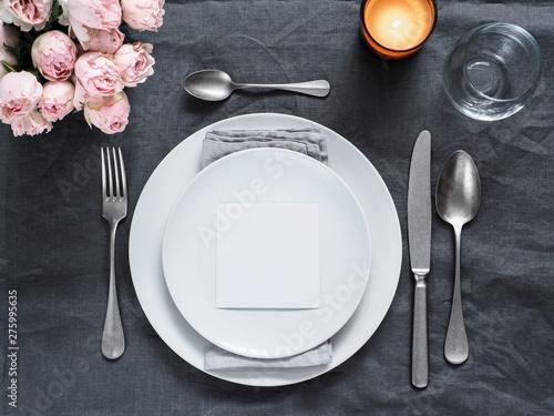 Obraz na płótnie Menu, wedding invitation mock up